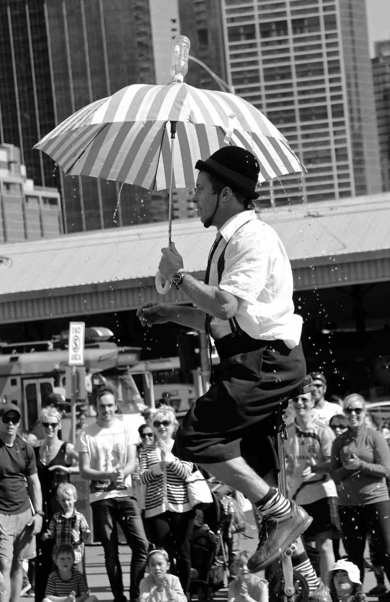 The Circus Performer – Federation Square,Melbourne