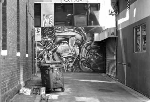 Street Art at the end of a small lane off Chinatown's main street